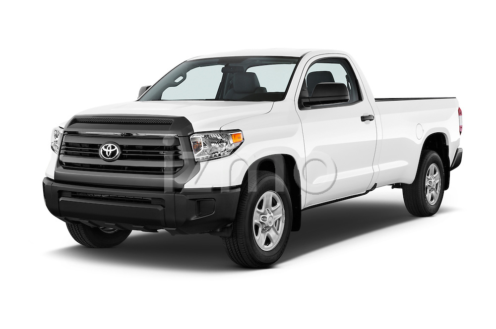 2017 Toyota Tundra 5.7 Auto SR Regular Cab 2 Door Truck Angular Front stock photos of front three quarter view