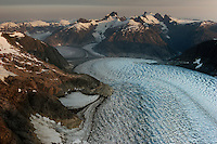 LeConte Glacier is in the Stikine Icefield, one of the few remnants of the once-vast ice sheets that covered much of North America during the Pleistocene age. It covers 2,900 square miles along the crest of the Coastal Mountains that separate Canada and the U.S., extending 120 miles from the Whiting River to the Stikine River.<br /> LeConte Glacier is in the Stikine Icefield, one of the few remnants of the once-vast ice sheets that covered much of North America during the Pleistocene age. It covers 2,900 square miles along the crest of the Coastal Mountains that separate Canada and the U.S., extending 120 miles from the Whiting River to the Stikine River.<br /> <br /> The glacier is in the southernmost active tidewater glacier in the northern hemisphere. Since first charted in 1887, it has retreated almost 2.5 miles.