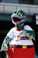 June 15th 2008:  Lou E. Loon - mascot of the Great Lakes Loons, Class-affiliate of the Los Angeles Dodgers, during a game at Dow Diamond in Midland, MI.  Photo by:  Mike Janes/Four Seam Images