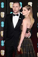 Jamie Bell and Kate Mara<br /> arriving for the BAFTA Film Awards 2018 at the Royal Albert Hall, London<br /> <br /> <br /> ©Ash Knotek  D3381  18/02/2018