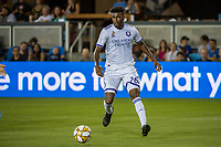 SAN JOSE,  - SEPTEMBER 1: Carlos Ascues #26 of the Orlando City SC during a game between Orlando City SC and San Jose Earthquakes at Avaya Stadium on September 1, 2019 in San Jose, .
