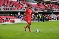 WASHINGTON, D.C. - OCTOBER 11: Weston McKennie #8 of the United States  warming up during their Nations League match versus Cuba at Audi Field, on October 11, 2019 in Washington D.C.