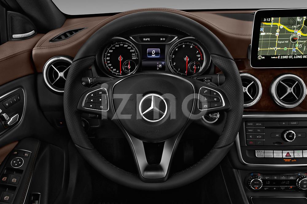 Car pictures of steering wheel view of a 2017 Mercedes Benz CLA CLA 4 Door Sedan Steering Wheel