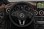 Car pictures of steering wheel view of a 2017 Mercedes Benz CLA CLA 4 Door Sedan Steering Wheel