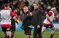 Crusaders head coach Scott Robertson during the 2021 Super Rugby Aotearoa final between the Crusaders and Chiefs at Orangetheory Stadium in Christchurch, New Zealand on Saturday, 8 May 2021. Photo: Joe Johnson / lintottphoto.co.nz