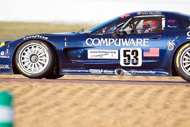C5-R and C6.R Corvette Racing GTS, GT1, and GT2 photos from Le Mans, Sebring, Daytona, Lime Rock, Mid-Ohio, Road America, Road Atlanta, Laguna Seca and other race tracks. Motorsports competitors from automobile manufacturers Ferrari, Aston Martin, Porsche, BMW, Ford, Saleen, Maserati, Jaguar, Audi, Mazda, Peugeot, Acura, Dodge and Honda are shown. Drivers include Fellows, O'Connell, Gavin, Beretta, Magnussen, Earnhardt, Collard, Garcia, Sharp, Said, Kneifel, Pruett, Heinricy, Pilgrim, Collins, Freon, and Paul.
