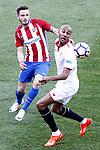Atletico de Madrid's Saul Niguez (l) and Sevilla FC's Steven N'Zonzi during La Liga match. March 19,2017. (ALTERPHOTOS/Acero)