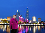 Incoming president of the Florida Bar Gwynne A. Young stands across the Hillsborough River from the Tampa Museum of Art in downtown Tampa , Florida April 4, 2012.