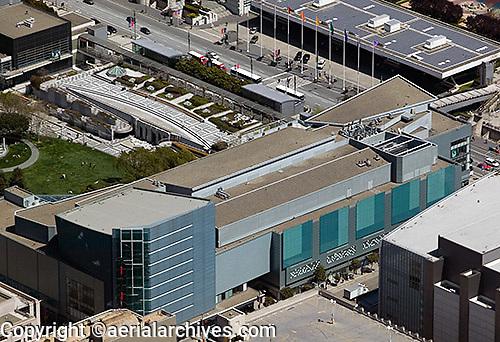 aerial photograph of the Metreon, SOMA, San Francisco, California
