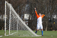 Adam & Eve FC celebrate a goal against Three Compasses - Hackney & Leyton League Sunday Football at East Marsh, Hackney Marshes - 31/01/10 - MANDATORY CREDIT: Gavin Ellis/TGSPHOTO - Self billing applies where appropriate - Tel: 0845 094 6026