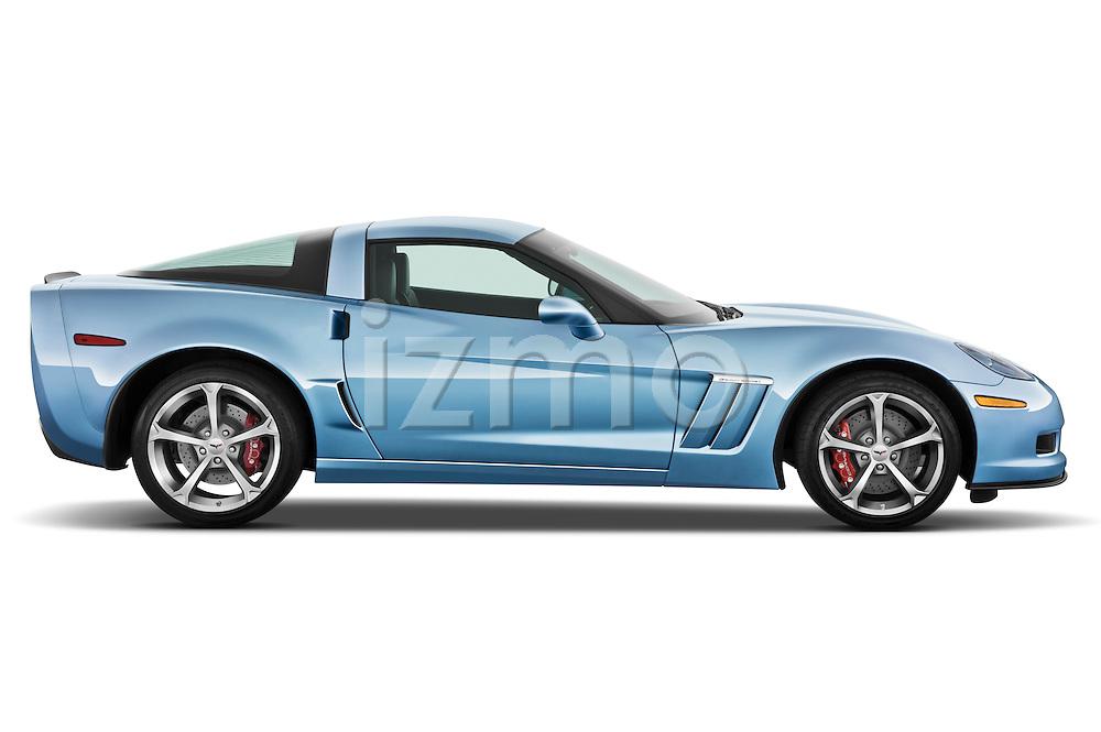 Passenger side profile view of a 2012 Chevrolet Corvette GS Coupe .