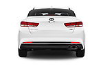 Straight rear view of 2016 KIA Optima LX Turbo 4 Door Sedan stock images