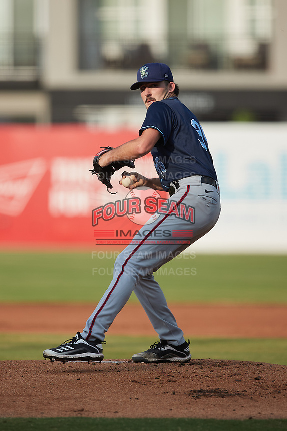 Wilmington Blue Rocks starting pitcher Cole Henry (35) in action against the Greensboro Grasshoppers at First National Bank Field on May 25, 2021 in Greensboro, North Carolina. (Brian Westerholt/Four Seam Images)