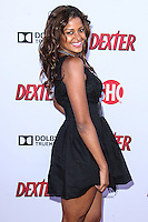 HOLLYWOOD, CA - JUNE 15: Claudia Jordan arrives at the premiere screening of Showtime's 'Dexter' Season 8 at Milk Studios on June 15, 2013 in Hollywood, California. (Photo by Celebrity Monitor)