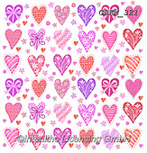 Kate, GIFT WRAPS, GESCHENKPAPIER, PAPEL DE REGALO, paintings+++++,GBKM321,#gp#, EVERYDAY,hearts,valentine