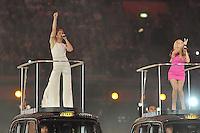 Spice Girls.Melanie Chisholm aka Sporty Spice , Emma Bunton aka Baby Spice .Londra 12/08/2012 Olympic Stadium.London 2012 Olympic Games Closing Ceremony.Olimpiadi Londra 2012 Cerimonia d chiusura.Foto Insidefoto Giovanni Minozzi.
