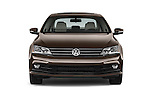 Car photography straight front view of a 2015 Volkswagen Jetta 2.5L SEL 4 Door Sedan Front View