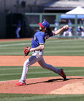 Hunter Wood - Texas Rangers 2021 spring training (Bill Mitchell)
