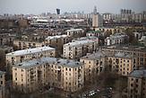 Soviet apartment blocks  are seen at Presnya district in Moscow.  / Abrisspläne in Moskau 2017 für über 1 Million Menschen, Demolition plans in Moscow for over 1 Million people
