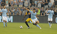 Kansas City, KS - Wednesday September 20, 2017: Roger Espinoza during the 2017 U.S. Open Cup Final Championship game between Sporting Kansas City and the New York Red Bulls at Children's Mercy Park.