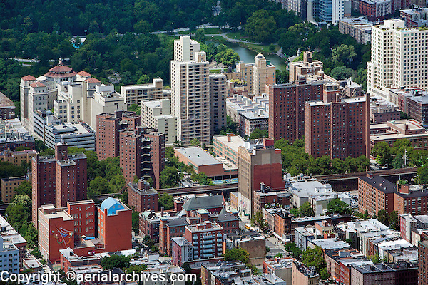 aerial photograph East Harlem, Manhattan, New York City, Central Park in background