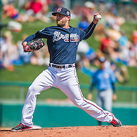 14 March 2016: Atlanta Braves pitcher Ian Krol, on the mound during a Spring Training pre-season game against the Tampa Bay Rays at Champion Stadium in the ESPN Wide World of Sports Complex in Kissimmee, Florida. The Braves shut out the Rays 5-0 in Grapefruit League play. Mandatory Credit: Ed Wolfstein Photo *** RAW (NEF) Image File Available ***