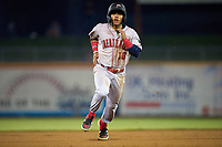Great Lakes Loons Jorbit Vivas (10) running the bases during a game against the Great Lakes Loons on August 28, 2021 at Classic Park in Eastlake, Ohio.  (Mike Janes/Four Seam Images)