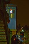 Seattle, Fremont bridge, night, Rapunzel, neon art, Rodman Miller, Lake Washington Ship Canal, Fremont neighborhood, Washington State, Pacific Northwest, USA,
