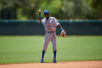 AZL Royals second baseman Tyler Tolbert (14) during an Arizona League game against the AZL Dodgers Lasorda on July 4, 2019 at Camelback Ranch in Glendale, Arizona. The AZL Royals defeated the AZL Dodgers Lasorda 4-1. (Zachary Lucy/Four Seam Images)