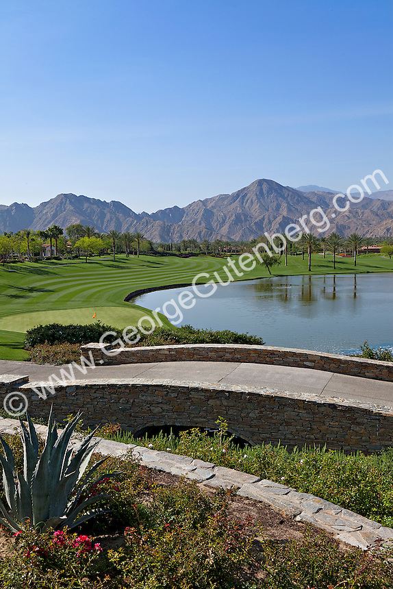 Stock photo of golf course in Indian Wells, California