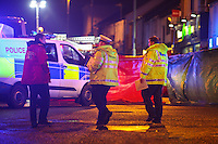 Friday 27 January 2017<br /> Emergency services attend RTA involving a bus at Woodfield Street, Morriston, Swansea, Wales, UK