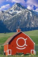 Barn with Wallow Mountains. Oregon