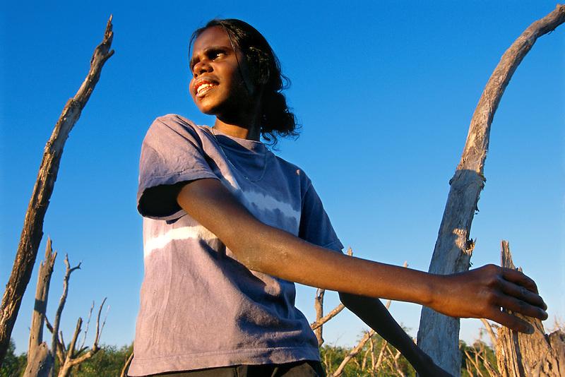 Winnie Yunkaporta, Wanem Clan group, Aurukun, Cape York Peninsula.
