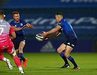 2nd October 2020; RDS Arena, Dublin, Leinster, Ireland; Guinness Pro 14 Rugby, Leinster versus Dragons; Johnny Sexton (Captain Leinster) passes the ball to build the attack