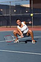 SAN ANTONIO, TX - FEBRUARY 9, 2008: The St. Edward's University Hilltoppers vs. The University of Texas at San Antonio Roadrunners Women's Tennis at the UTSA Tennis Center. (Photo by Jeff Huehn)