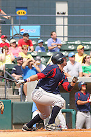 Right fielder Ryan Kalish of the Salem Red Soxhitting during a game against  the Myrtle Beach Pelicans on May 3, 2009