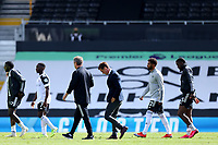 12th September 2020; Craven Cottage, London, England; English Premier League Football, Fulham versus Arsenal; A dejected Fulham Manager Scott Parker after the 0-3 loss