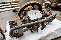 Rare 120 year old Benz car engine which was found in a scrap yard has emerged for sale