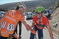 Samuel Sanchez - euskatel e Alejandro Valverde - movistar.Ciclismo giro dell'Andalusia .24/2/2012.4a tappa - Cruzcamp Jaen / La Guardia de Jaen.Foto Insidefoto / Photo News / Panoramic.ITALY ONLY