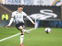 20th March 2021; Liberty Stadium, Swansea, Glamorgan, Wales; English Football League Championship Football, Swansea City versus Cardiff City; Connor Roberts of Swansea City crosses the ball