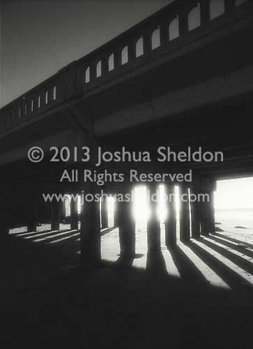 Shadows under pier<br />