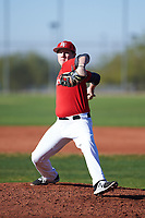 Kevin Faulkner (52), from Marysville, Washington, while playing for the Cardinals during the Under Armour Baseball Factory Recruiting Classic at Red Mountain Baseball Complex on December 28, 2017 in Mesa, Arizona. (Zachary Lucy/Four Seam Images)