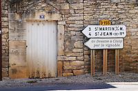 road sign mercurey burgundy france