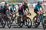 The peloton including Olympic Champion Richard Carapaz (ECU) Ineos Grenadiers during Stage 12 of La Vuelta d'Espana 2021, running 175km from Jaén to Córdoba, Spain. 26th August 2021.     <br /> Picture: Luis Angel Gomez/Photogomezsport   Cyclefile<br /> <br /> All photos usage must carry mandatory copyright credit (© Cyclefile   Luis Angel Gomez/Photogomezsport)