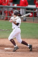 Zach Wilson #25 of the Arizona State Sun Devils bats against the University of New Mexico Lobos in game two of the 2011 season opening series on February 20, 2011 at Packard Stadium, Arizona State University, in Tempe, Arizona..Photo by:  Bill Mitchell/Four Seam Images.