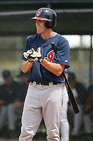 March 20th 2008:  Brock Simpson of the Cleveland Indians minor league system during Spring Training at Chain of Lakes Training Complex in Winter Haven, FL.  Photo by:  Mike Janes/Four Seam Images