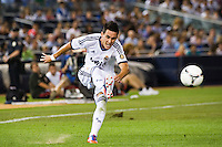 Jose Maria Callejon (21) of Real Madrid. Real Madrid defeated A. C. Milan 5-1 during a 2012 Herbalife World Football Challenge match at Yankee Stadium in New York, NY, on August 8, 2012.
