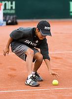 16-09-12, Netherlands, Amsterdam, Tennis, Daviscup Netherlands-Suisse, Ballboy