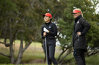 STANFORD, CA - APRIL 25: YuSang Hou, Larua Ianello at Stanford Golf Course on April 25, 2021 in Stanford, California.