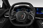 Car pictures of steering wheel view of a 2020 Chevrolet Corvette-Stingray 3LT 3 Door Targa Steering Wheel